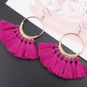 Jewelry - 2/$8 Fushia Tassel Earrings ❤️